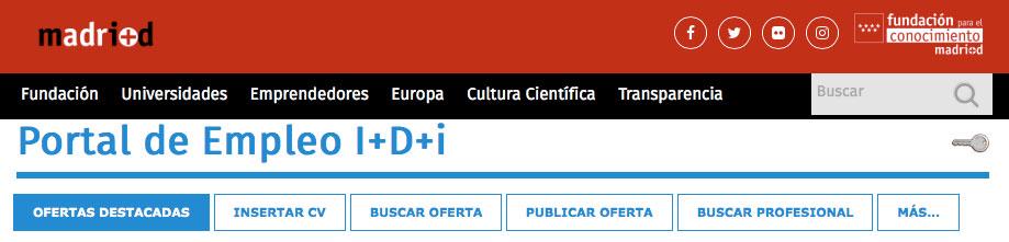 Portal Empleo I+D+i madrid+d